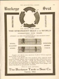 buckeye tank seat company 1911 the strongest in the world vintage ad