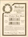 buckeye tank seat company 1911 most perfect seat made vintage ad