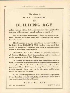 building age 1911 modern moderate cost construction vintage ad