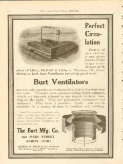 burt mfg company 1911 libby mcneill libby morrison il vintage ad