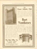 burt mfg company 1911 illinois athletic club chicago il vintage ad