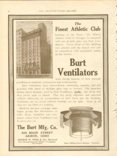 burt mfg company 1911 illinois athletic club chicago il vintage ad