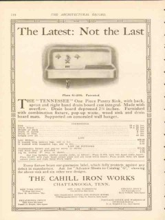 cahill iron works 1911 latest not the last tennessee sink vintage ad