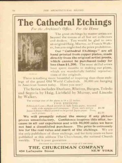 churchman company 1911 the cathedral etchings office home vintage ad