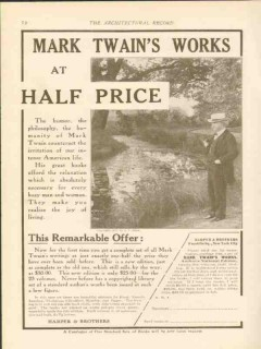 harper brothers 1911 mark twain works half price books vintage ad