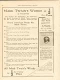 harper brothers 1911 mark twain works 25 volumes book vintage ad
