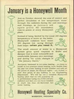 honeywell heating specialty company 1911 january month vintage ad