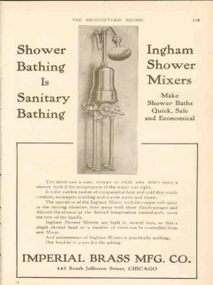 imperial brass mfg company 1911 sanitary bathing plumbing vintage ad