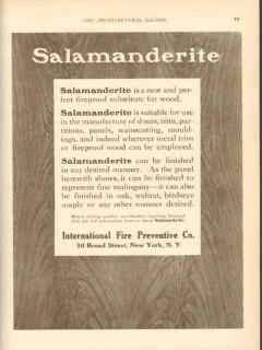 international fire preventive company 1911 salamanderite vintage ad