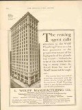 l wolff mfg company 1911 steger building chicago plumbing vintage ad