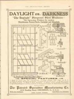 patented specialties mfg company 1911 daylight vs darkness vintage ad