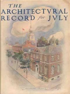 architectural record 1913 philadelphia pa jm rose vintage cover print