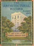 architectural record 1913 rh stearns bldg boston vintage cover print