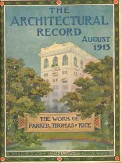 architectural record 1913 rh stearns bldg boston vintage cover print