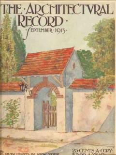 architectural record 1913 wayside gate redfern cornwell vintage print