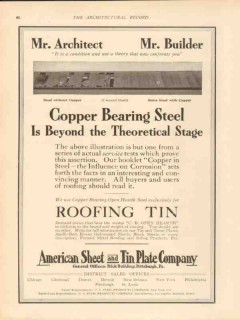 american sheet tin plate company 1913 copper bearing steel vintage ad