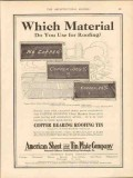 american sheet tin plate company 1913 which material vintage ad