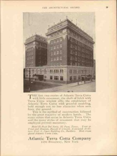 atlantic terra cotta company 1913 hotel el paso del norte vintage ad