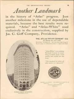 atlas portland cement company 1913 turks head bldg prov ri vintage ad