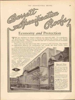 barrett mfg company 1913 polis theater worcester ma roofing vintage ad