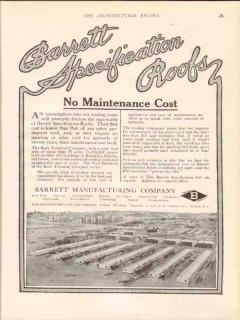 barrett mfg company 1913 bush terminal co brooklyn ny roof vintage ad