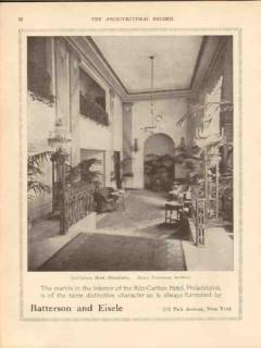 batterson eisele 1913 ritz-carlton hotel philadelphia pa vintage ad