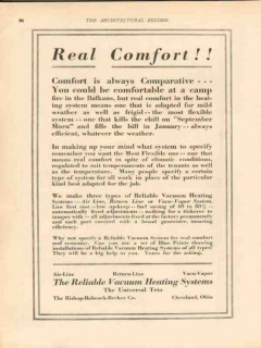 bishop babcock becker company 1913 real comfort heating vintage ad