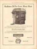 boynton furnace company 1913 radiates 20 per cent more heat vintage ad