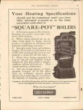 boynton furnace company 1913 square-pot boilers heating vintage ad