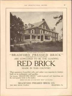 bradford pressed brick company 1913 dr vorden mercerburg pa vintage ad