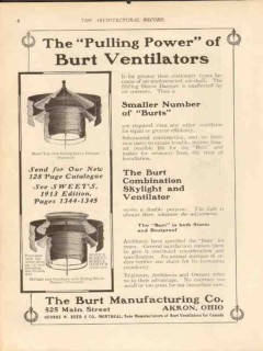 burt mfg company 1913 the pulling power ventilators vintage ad