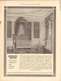 cheney brothers 1913 louis xvi bedroom upholstery drapery vintage ad
