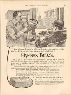 hydraulic press brick company 1913 for facing walls house vintage ad