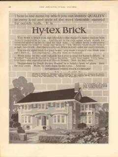 hydraulic press brick company 1913 identify quality hy-tex vintage ad