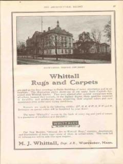 m j whittall 1913 state capitol trenton nj carpets rugs vintage ad