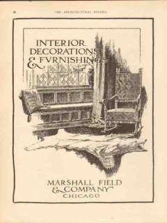 marshall field company 1913 interior decorations furnishing vintage ad