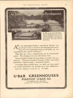 pierson u-bar company 1913 rutherford trowbridge new haven vintage ad