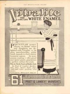 pratt lambert inc 1913 particular women delighted vitralite vintage ad