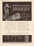 aluminum seal company 1934 closure combination is modern vintage ad