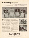 bakelite corp 1934 catering to customer convenience closure vintage ad