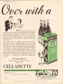 brocton wine cellars 1934 over with cellarette green label vintage ad