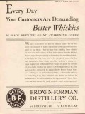brown-forman distillery company 1934 demand better whiskies vintage ad