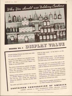 container corp of america 1934 folding carton display value vintage ad