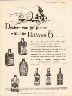 hillcrest distilling corp 1934 dealers can go places whisky vintage ad