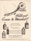 hillcrest distilling corp 1934 comes to market whiskey vintage ad