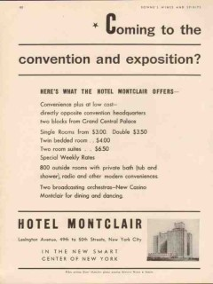 hotel montclair 1934 nyc wine spirits convention exposition vintage ad