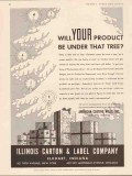illinois carton label company 1934 your product under tree vintage ad