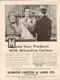 illinois carton label company 1934 move your products vintage ad