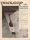 louis dejonge company 1934 package gift wrap papers vintage ad