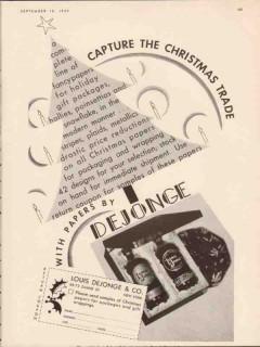 louis dejonge company 1934 capture the christmas trade vintage ad